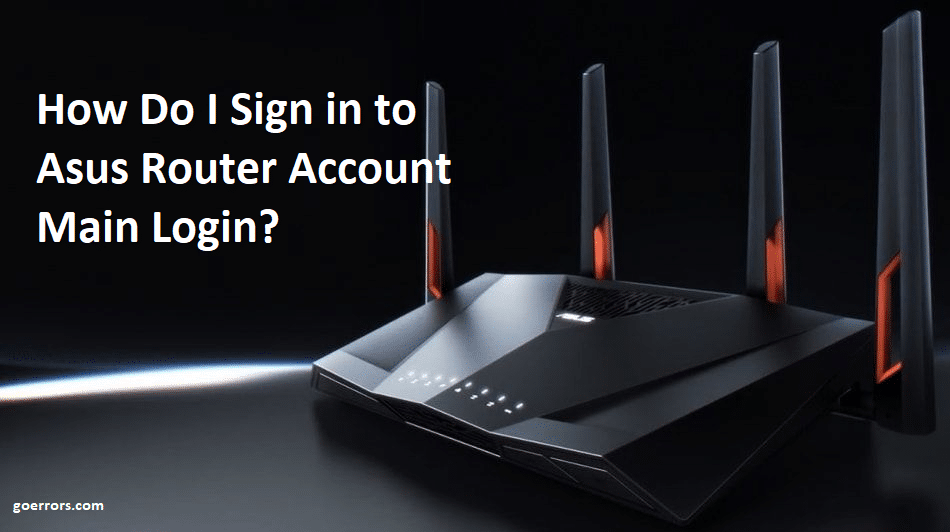 asus router account login